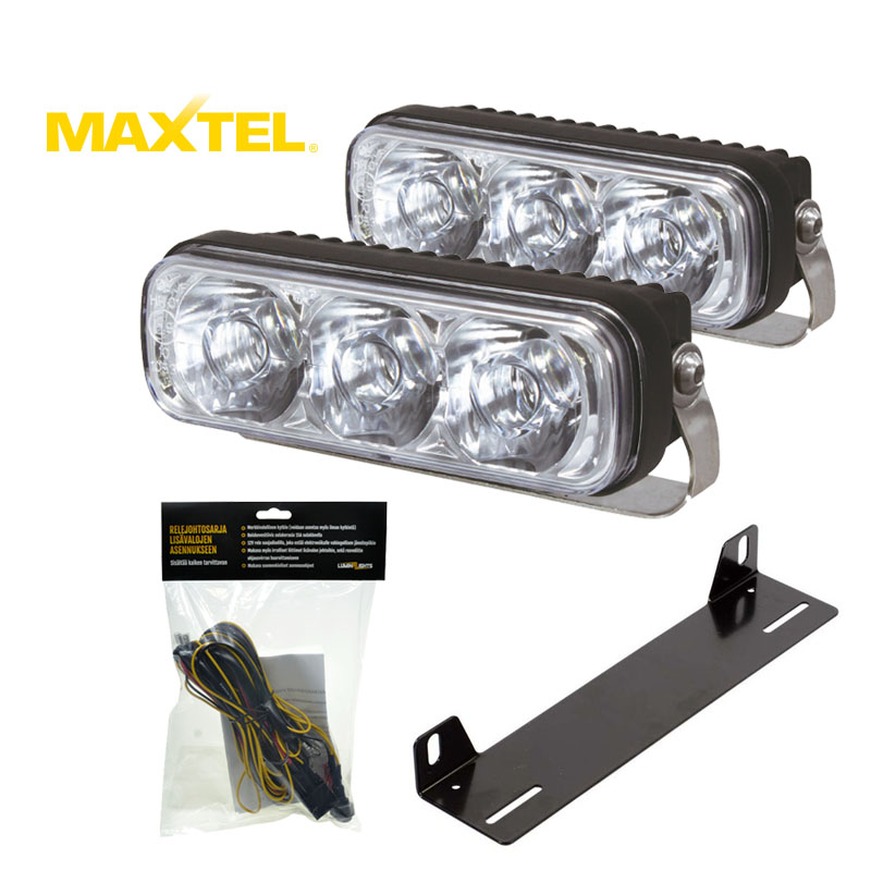 LED Auxiliary Light Bar Set Maxtel Mini 13W